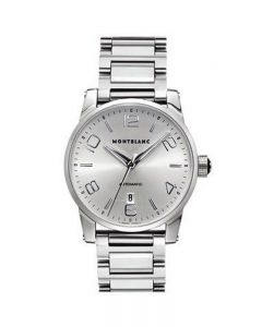 Orologio Timewalker solo tempo automatico calibro 4810 acciaio Montblanc numeri arabi bracciale acciaio