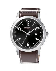 Orologio Solo tempo Uomo Cassa acciaio nero cinturino pelle cal.g111 WR5bar Vagaryby Citizen