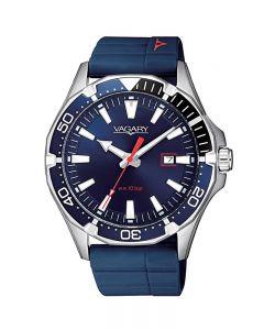 Orologio Solo Tempo Uomo Vagary By Citizen Ib8-411-70 Super AquaDiver Aqua39 WR 10 bar caucciu blu