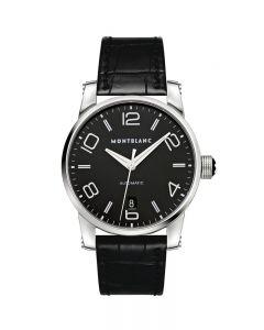 orologio uomo Solo Tempo Automatico Timewalker 105812 acciao cinturino coccodrillo nero